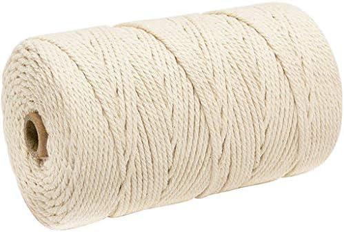 Haludock - Cuerda de algodón (3 mm x 200 m): Amazon.es: Hogar