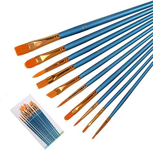 メイクブラシ 10アーティストブラシはアクリル絵画絵画水彩オイルに適した設定します 化粧筆フェイスブラシ (色 : Blue, Size : FREE SIZE)