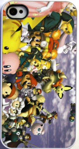 (339wi4) Super Smash Brothers Apple iPhone 4 / 4S White Case