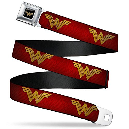 Buckle-Down Men's Seatbelt Belt Wonder Woman XL, icon