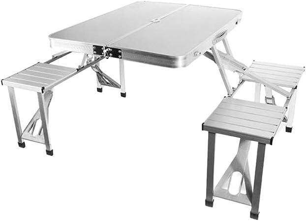 Leo565Tom - Juego de Mesa y sillas Plegables para Picnic al ...