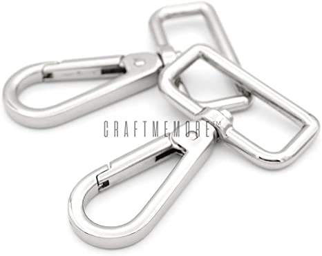 Gunmetal CRAFTMEmore 2PCS 3//4 Inch Push Gate Snap Hooks Metal Swivel Lobster Claw Clasp Purse Hardware