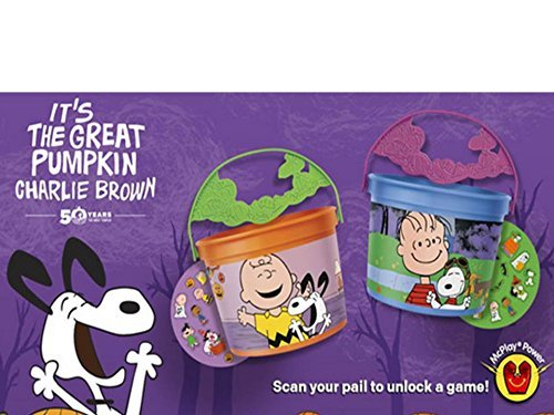 Mcdonalds 2016 its the great pumpkin charlie brown - HALLOWEEN PAILS SET OF 2 by McDonald's -