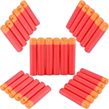 ZJchao 120 PCS Refillable Mega Sponge EVA Round Head Soft Bullets for Elite Nerf N-strike Mega Centurion Blaster Toy Gun, Red