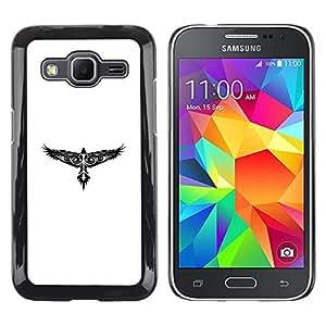 EJOY---Cubierta de la caja de protección la piel dura para el / Samsung Galaxy Core Prime / --Modelo tribal del tatuaje del halcón de Eagle