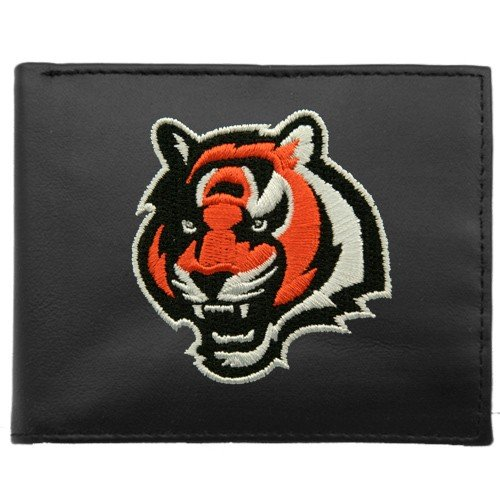 Cincinnati Bengals Embroidered Leather - Cincinnati Bengals Embroidered Leather Billfold Wallet