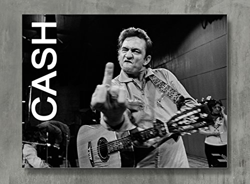 Johnny Cash Poster - Cash Canvas Print Classic Rock Wall Art Posters Print Standard Size 18