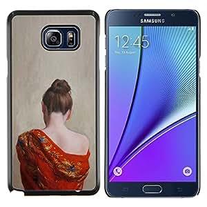 LECELL--Funda protectora / Cubierta / Piel For Samsung Galaxy Note 5 5th N9200 -- Pale Skin hombro de la mujer desnuda --