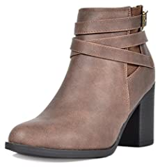 Look absolutely stunning with these adorable block heel booties! Featuring leatherette upper, almond toe, chunky heel, stitching detail, striped lining, zipper closure for easy on/off, and finished with cushioned insole for comfort