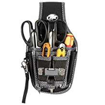 MOHOO 9in1 Electricians Tool Belt Waist Pocket Pouch Bag Screwdriver Carry Case Holder