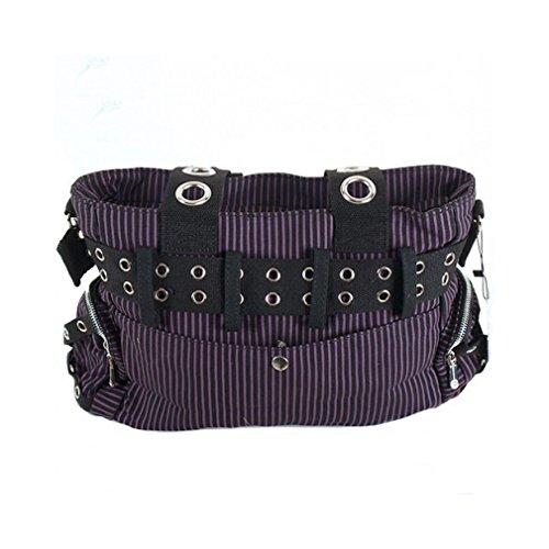 Jawbreaker Streifen Tasche (Schwarz/Violett)