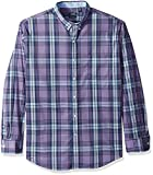 IZOD Men's Advantage Performance Non Iron Stretch Long Sleeve Shirt, Dalhia Purple, XX-Large