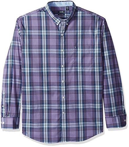 IZOD Men's Advantage Performance Non Iron Stretch Long Sleeve Shirt, Dalhia Purple, XX-Large by IZOD