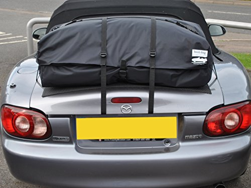 Mazda Miata Trunk Rack Luggage Rack : Unique waterproof luggage bag straps to trunk lid : Fits all models : Boot-bag Vacation (Mazda Miata Trunk)