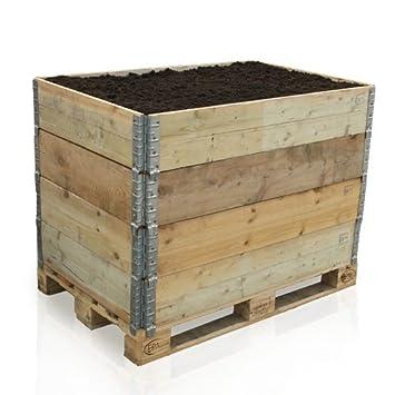 Paligo Hochbeet Holz Paletten Aufsatz Rahmen Fruh Garten Pflanz