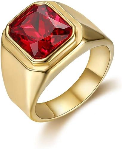 bijoux homme bague rubis rouge