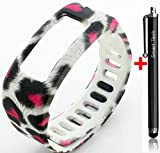 Smart Tech Store Cheetah Leopard White Black Pink Replacement Band With Clasp for Garmin Vivofit Only /No tracker/ Wireless Activity Bracelet Sport Wrist band Garmin Vivo fit Bracelet Sport Arm Band Armband