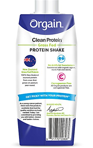Orgain-Grass-Fed-Protein-Shake-Creamy-Chocolate-Fudge-11-Ounce-12-Count-Non-GMO-Gluten-Free