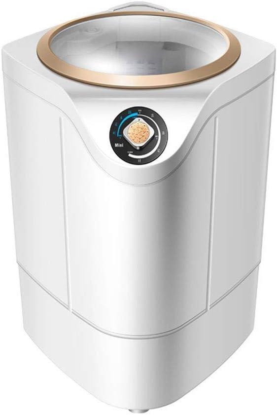 GSAGJxyj ミニ半自動洗濯機ポータブル洗濯機およびスピンドライヤー、家庭用省エネおよび環境保護小型洗濯機UV消毒 (Color : Gold)