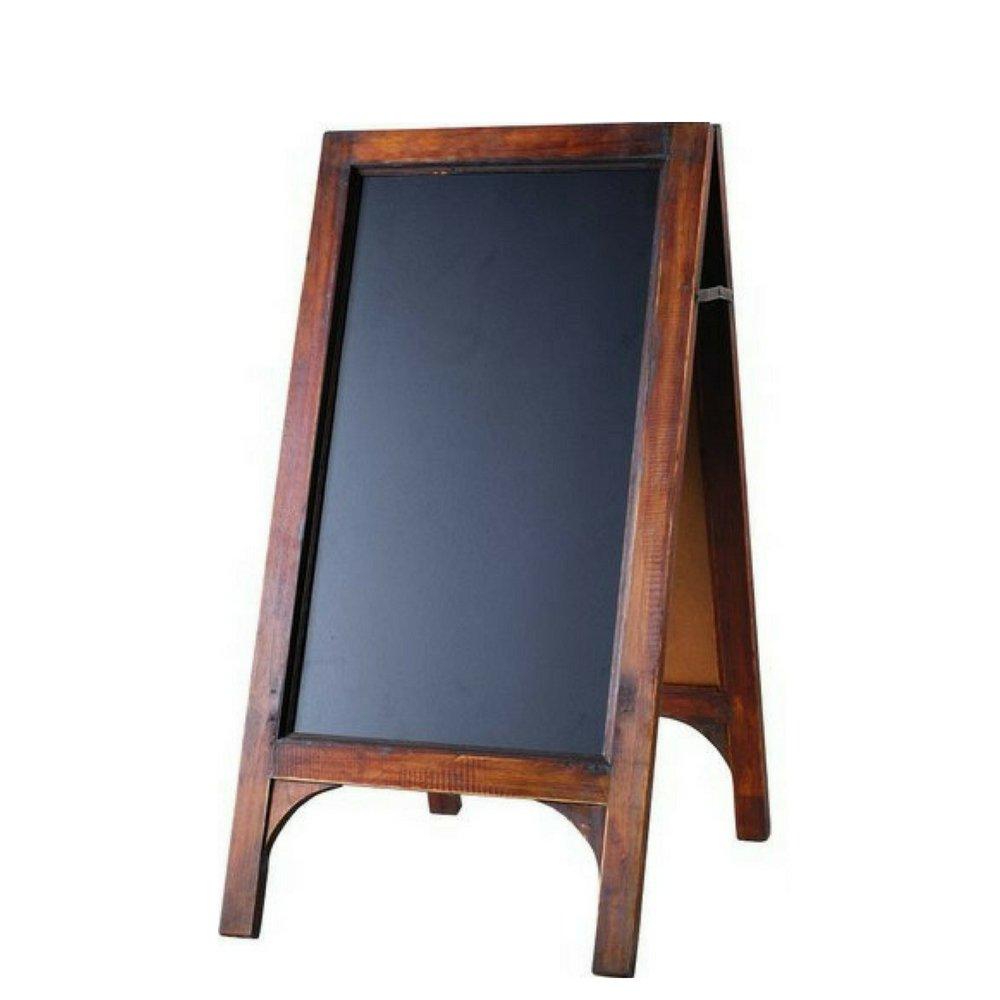 GT A Frame Chalkboard Vintage Wood Framed Black Rustic Large Picture Restaurant Labels Outdoor Sidewalk Bar Pub Menu Stand Sign & Ebook by Easy2find. by GT