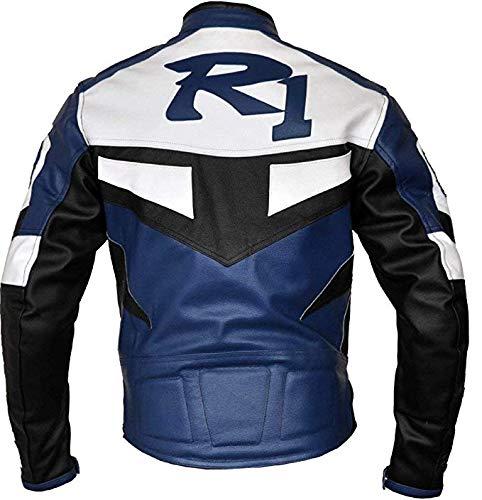 protecci/ón CE Armadura para Motociclista Corso Fashion Yamaha Chaqueta de Piel para Motocicleta para Hombre