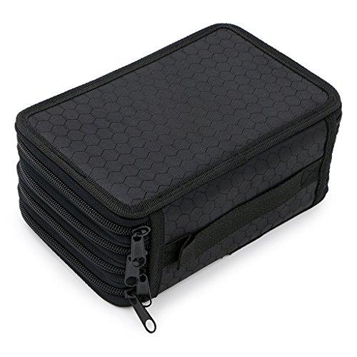 Handy Wareable Oxford Colored Pencil Bags Large 72 Slots Pencil Organizer Portable Watercolor Pencil Wrap Case (Black) Photo #7