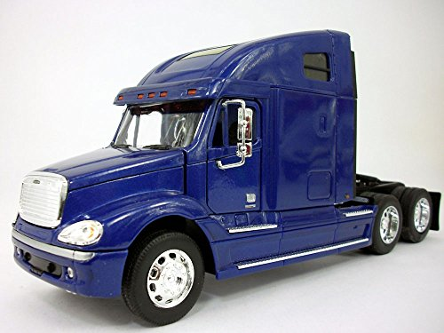Freightliner Columbia Extended Cab Truck 1/32 Scale Diecast Metal and Plastic Model - BLUE