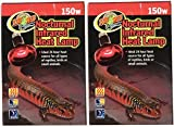 Zoo Med (2 Pack Red Infrared Heat Lamp, 150 Watts