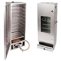 Räucherofen Smoki silber groß Edelstahl Smoking Oven Garten ✔ eckig ✔ Grillen mit Holzkohle