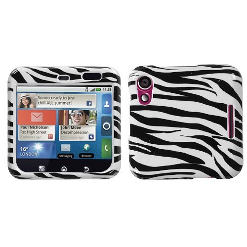 (MYBAT MOTMB511HPCIM056NP Slim and Stylish Protective Case for The Motorola Flipout MB511 - Retail Packaging - Zebra Skin)