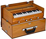 BINA 23B Deluxe, Harmonium, 2 1/2 Octaves, 32 Keys, Small, Portable, Compact, Special Reeds, Safri, Natural Color, Bag, Book, Kirtan, Musical Instrument Indian