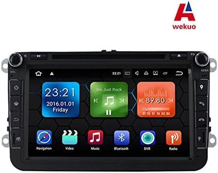 Wekuo - Reproductor de DVD de Coche para VW/Volkswagen/Polo/Passat ...