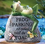 Cheap Outdoor Decorative Frog Parking Only Garden Stone