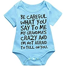 Fartido Romper Baby Girl Boy Letter Print Jumpsuit Outfits Sunsuit Clothes