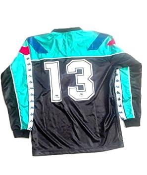 Camiseta Barça FCB Kappa Vintage con protección nº13 Verde Talla M  Amazon. es  Deportes y aire libre 7ec9f24b1eb2d