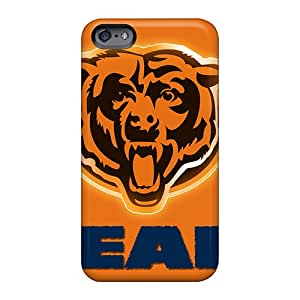 Shock Absorbent Cell-phone Hard Covers For Apple Iphone 6 Plus With Provide Private Custom Vivid Chicago Bears Pattern JohnPrimeauMaurice