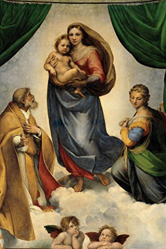 Sistine Madonna by Raphael Giclee Canvas Prints Wrapped Gallery Wall Art Stretched and Framed Ready to Hang – 32 x 48