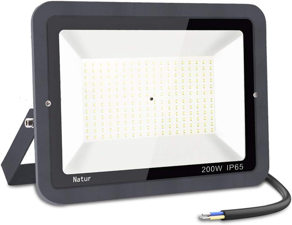 200W LED Foco Exterior,bapro 6000k Alto Brillo Proyector Led,Impermeable IP65 Floodlight Led Iluminación para Patio, Camino, Jardín, Almacén (Blanco frío,200W)[Clase de Eficiencia Energética A++]