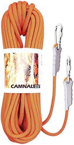 クライミングロープ、高強度安全ロープ、カラビナ付きロックロープ、屋外キャンプ用ハイキングおよびハイキング10m