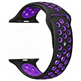 Kobwa Soft Silicone Replacement Watch Band Strap Wristband 38mm/42mm For Apple Edition IWatch Nike+ Sport Watch Band Series 1 and Series 2