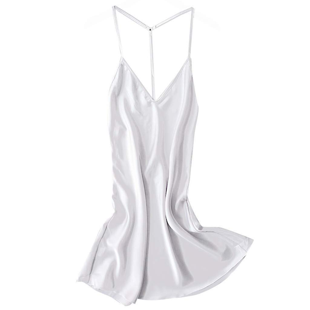 YKARITIANNA Women Sexy Satin Sleepwear Babydoll Lingerie Nightdress Pajamas