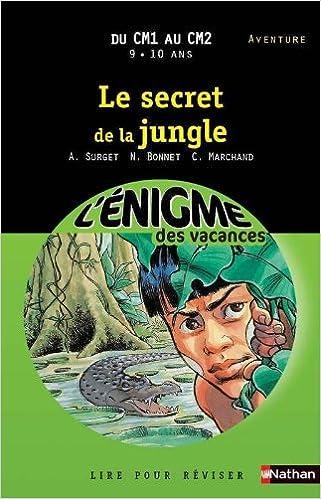 Amazon Fr Cahier De Vacances Enigmes Vacances Secret De La Jungle Marchand Catherine Bonnet Nadine Surget Alain Livres
