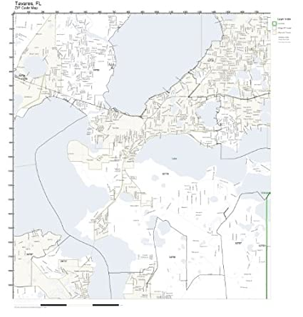 Tavares Florida Map.Amazon Com Zip Code Wall Map Of Tavares Fl Zip Code Map Not
