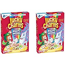 Lucky Charms Gluten Free, Breakfast Cereal with Magical Unicorn Marshmallows 10.5 Oz (Pack of 2)