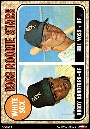 1968 Topps # 142 White Sox Rookies Buddy Bradford/Bill Voss Chicago White Sox (Baseball Card) Dean's Cards 3 - VG White Sox
