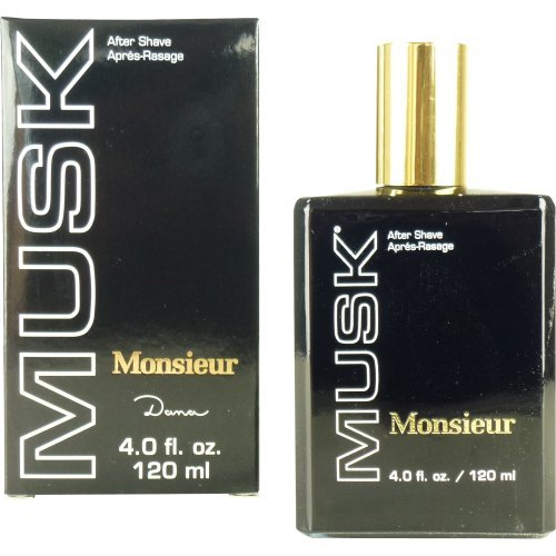 Dana Monsieur musk aftershave 4.0 oz/120 ml for men by dana, 4 Fl. Oz.