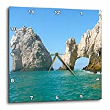 3dRose dpp_22787_1 Hole in The Rock Cabo San Lucas Mexico-Wall Clock, 10 by 10-Inch
