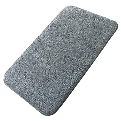 MAYSHINE Bath mats for Bathroom Rugs,Extra Soft, Absorbent, Densely Woven Shaggy D8 Microfiber,Machine-Washable, Perfect for Doormats Tub Shower(20X31 inch Gray)