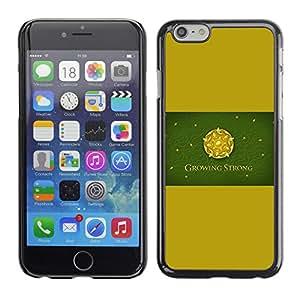 A-type Arte & diseño plástico duro Fundas Cover Cubre Hard Case Cover para Apple Iphone 6 Plus 5.5 (Crecer Fuerte Rose Sigil)