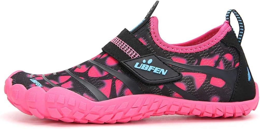 UBFEN Zapatos de Agua Ni/ño Ni/ña Secado R/ápido Zapatillas de Playa de Verano Deportes Acu/áticos Escarpines Nataci/ón Buceo Surf Antideslizante Transpirable